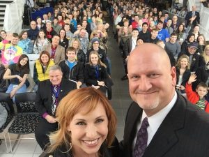 Kari Byron and Dr. Paustian at ciWeek